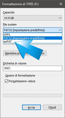 Formattazione windows